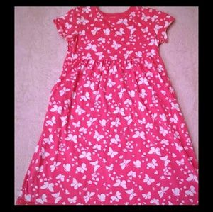 Pink & White Butterfly Dress